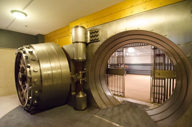 Banks are rapidly becoming outdated, but there's still something to be said about massive vaults