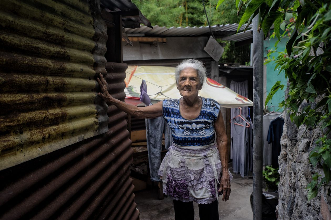 María Graciela Barrera, 89, of San Salvador, is one of many who relies on charities and remittances to survive. By Juan Carlos for the Wall Street Journal.
